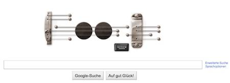 Google-Doodle zum Geburtstag von Les Paul. Quelle: www.google.de