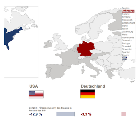 Infografik zur Eurozone. Screenshot. Quelle: FTD · http://www.ftd.de