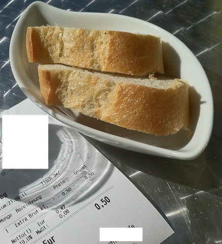 Extra Brot 50 Cent. Foto: Kraas & Lachmann