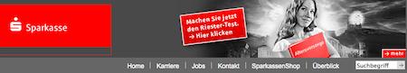 Sparkasse Website. Quelle: www.sparkasse.de