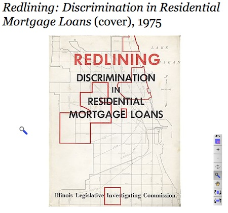 Redlining Report. Cover. Source: www.encyclopedia.chicagohistory.org