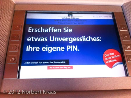 Unvergesslich: Sprechender Bankomat 1