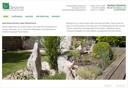 Homepage Norbert Oesterle Garten- und Landschaftsbau.