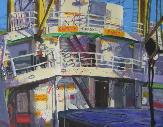 """""""Aufbau der Old Lady 2. © 2011 Ava Smitmas. Mischtechnik auf Hartfaser, 68 x 86 cm. Quelle: www.atelier-ava-smitmans.de"""