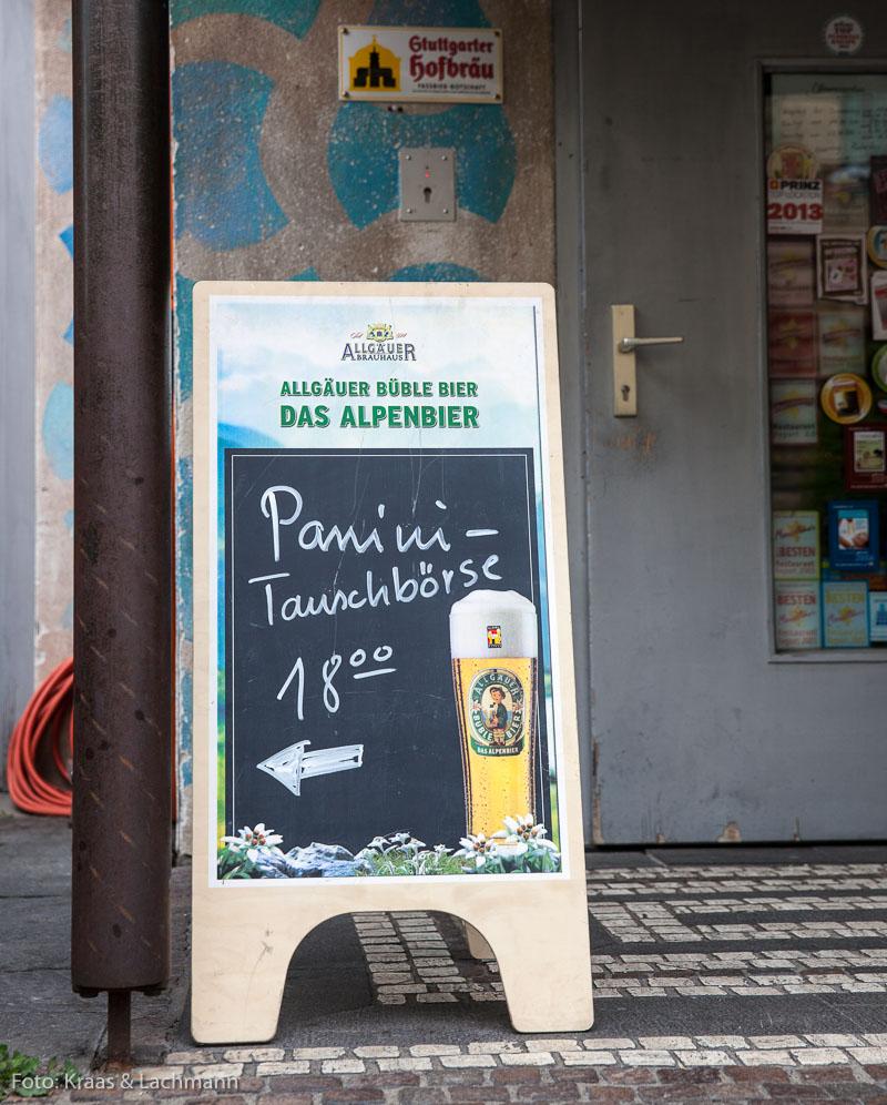 Gesehen in Stuttgart in der Nähe des Hauses der Wirtschaft.