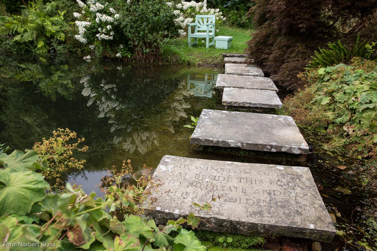 Hier an diesem Teich auf seinem Landsitz Chartwell soll er oft nachgedacht haben: Winston Churchill