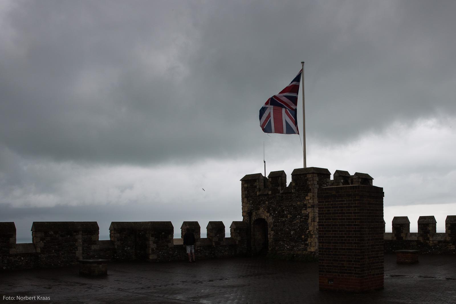 Brexit for a brighter future? Dover Castle hat schon vielen Stürmen getrotzt. Foto: Norbert Kraas