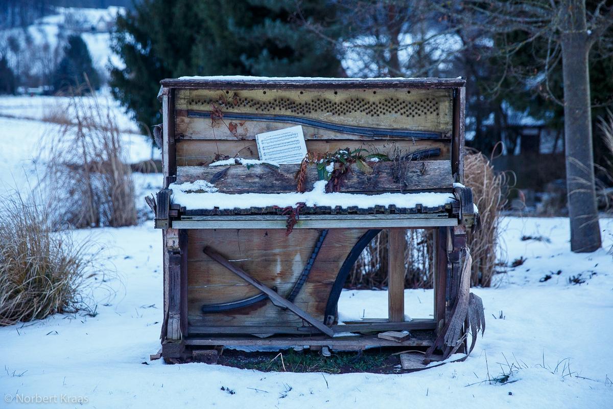 Vor zwei Jahren stand es noch, das Klavier in Erika Jantzens Tübinger Staudengärtnerei