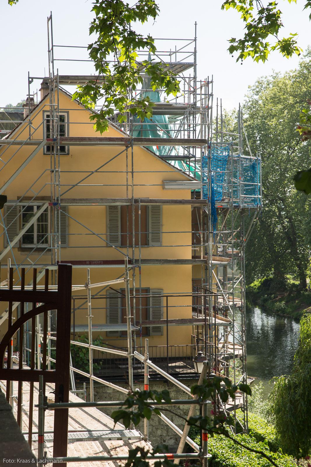 Noch bis 2019 wird er renoviert, der Hölderlinturm in Tübingen