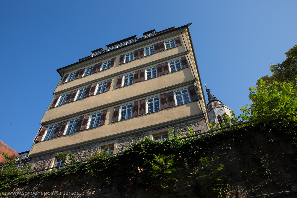 1547 wurde die Alte Aula in Tübingen gebaut. 24 Jahre später musste die Universität wieder vor der Pest flüchten: nach Esslingen