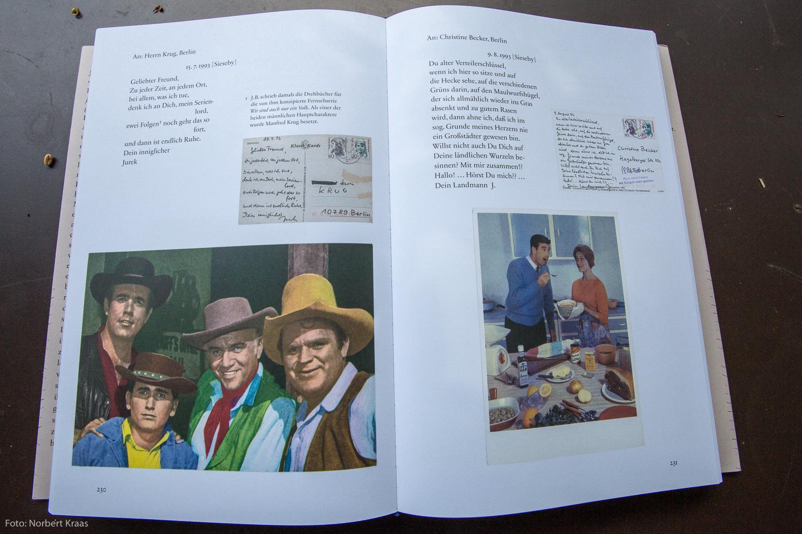 Jurek Becker hat nicht nur die Texte seiner Postkarten sorgfältig komponiert, sondern auch die Motive ganz bewusst ausgesucht