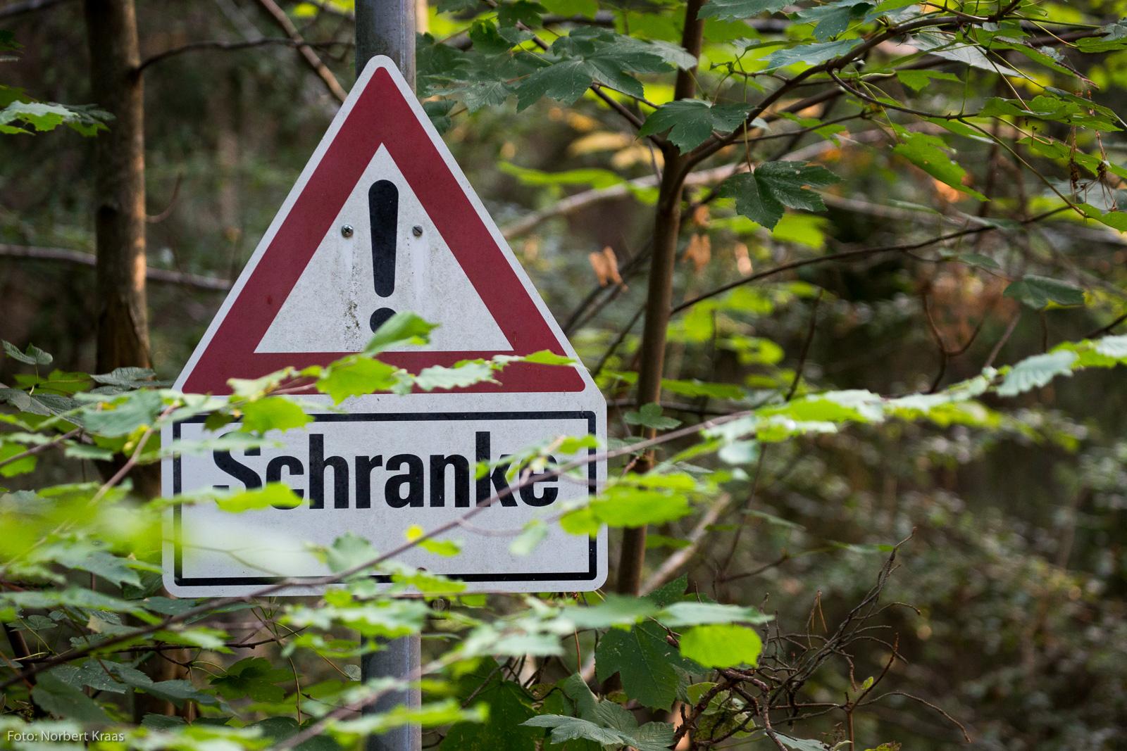 Schranke ohne Fritten am Steinenberg in Tübingen.