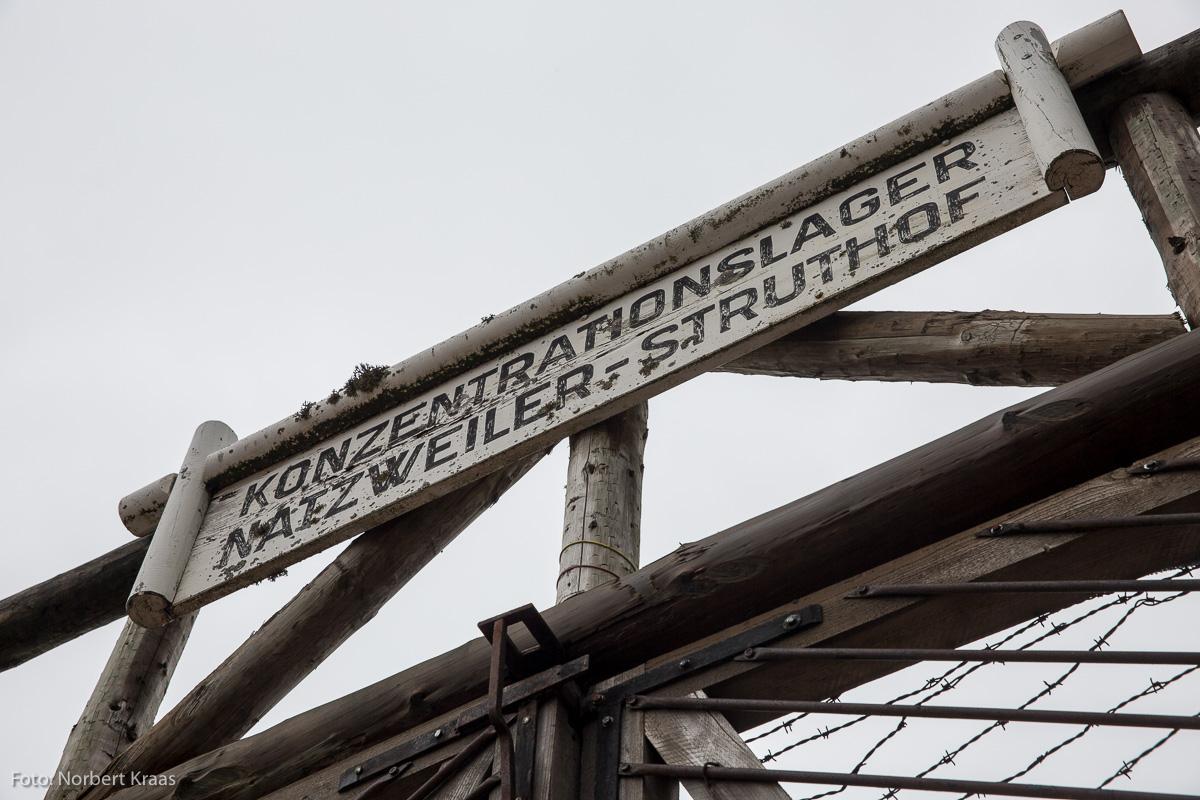 Eingang zum Konzentrationslager Natzweiler-Struthof im Elsass