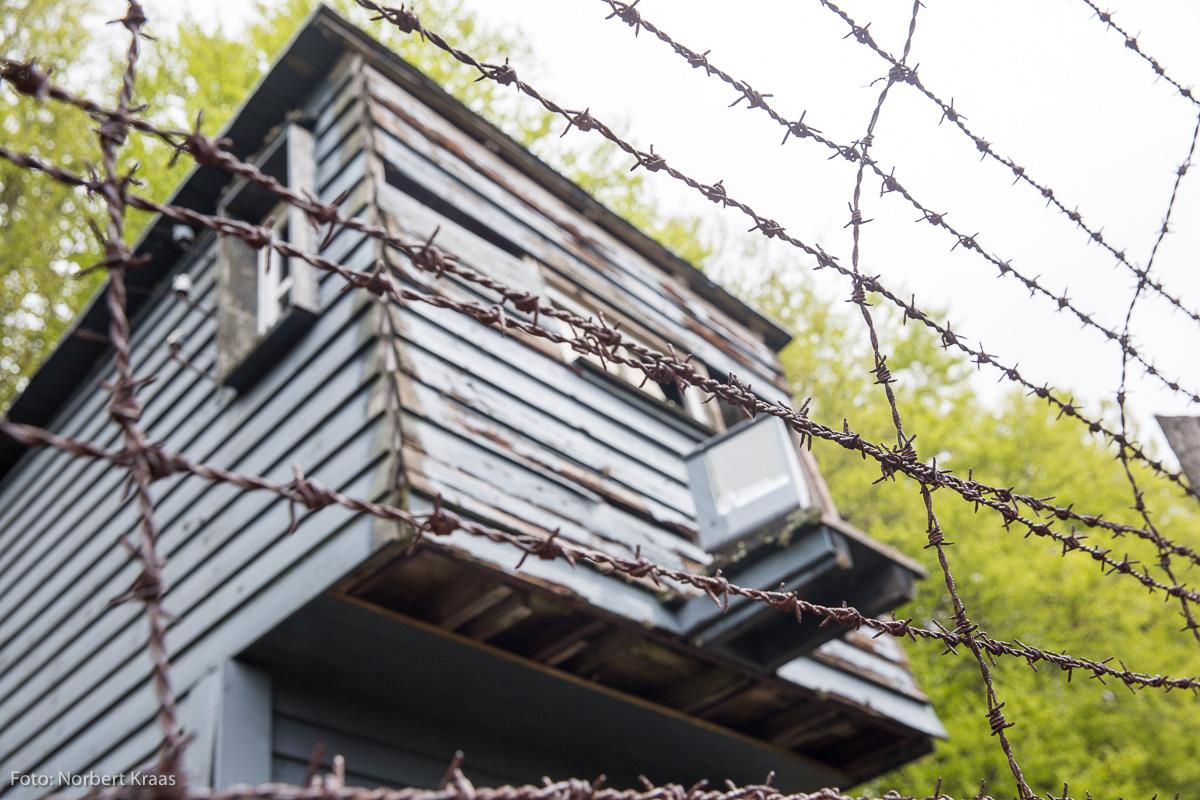 Wachturm im Konzentrationslager Natzweiler-Struthof im Elsass