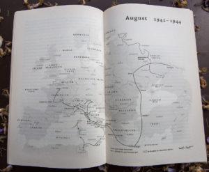 Geert Maks Reiseroute für die Jahre 1942 bis 1944