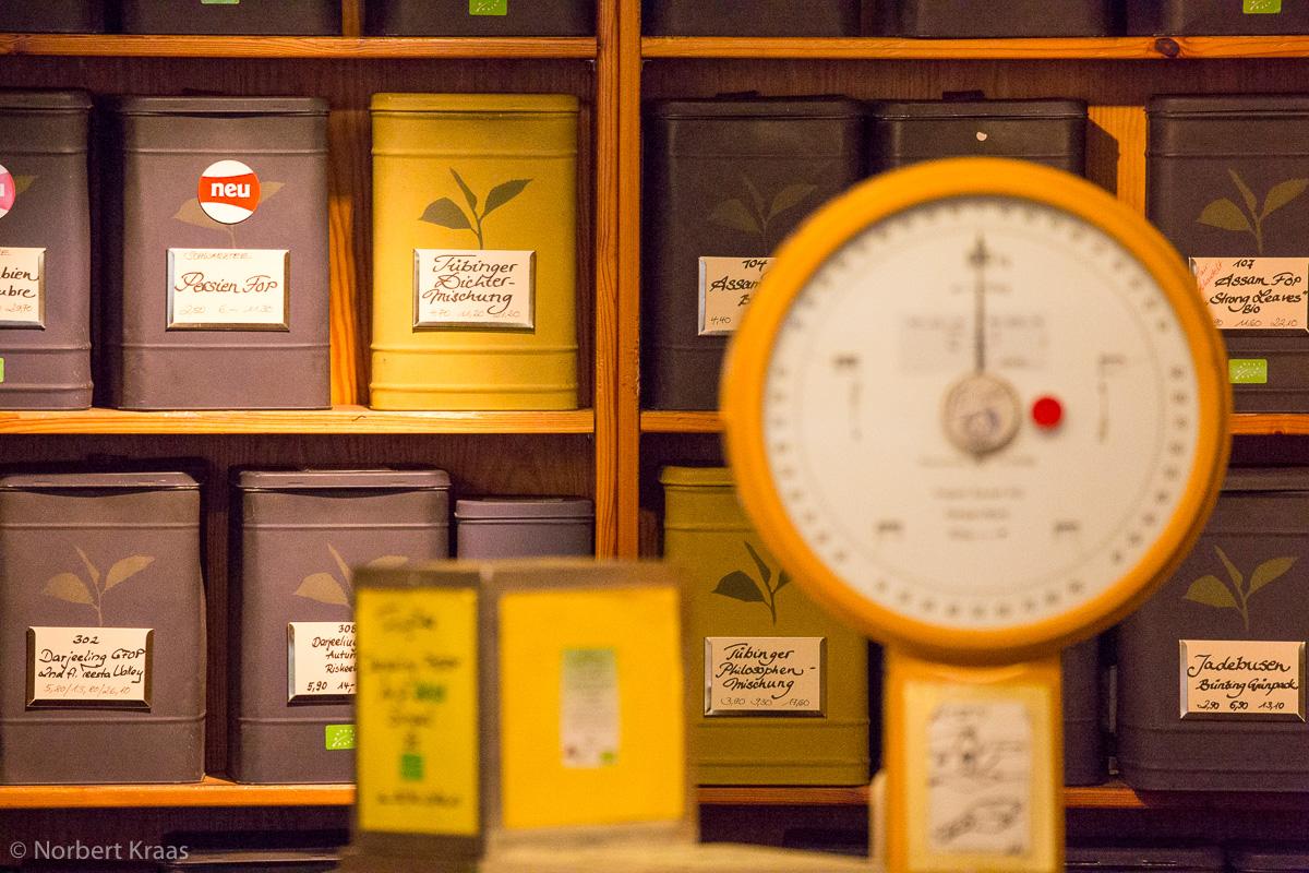 Der Weg des Tees führ in Tübingen zu Hinrichs Teehus in der Froschgasse 5