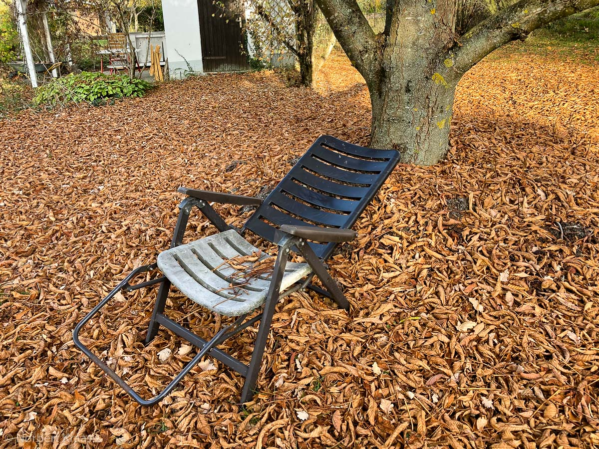Laub rechen im Herbst, lästige Pflicht oder meditative Übung?