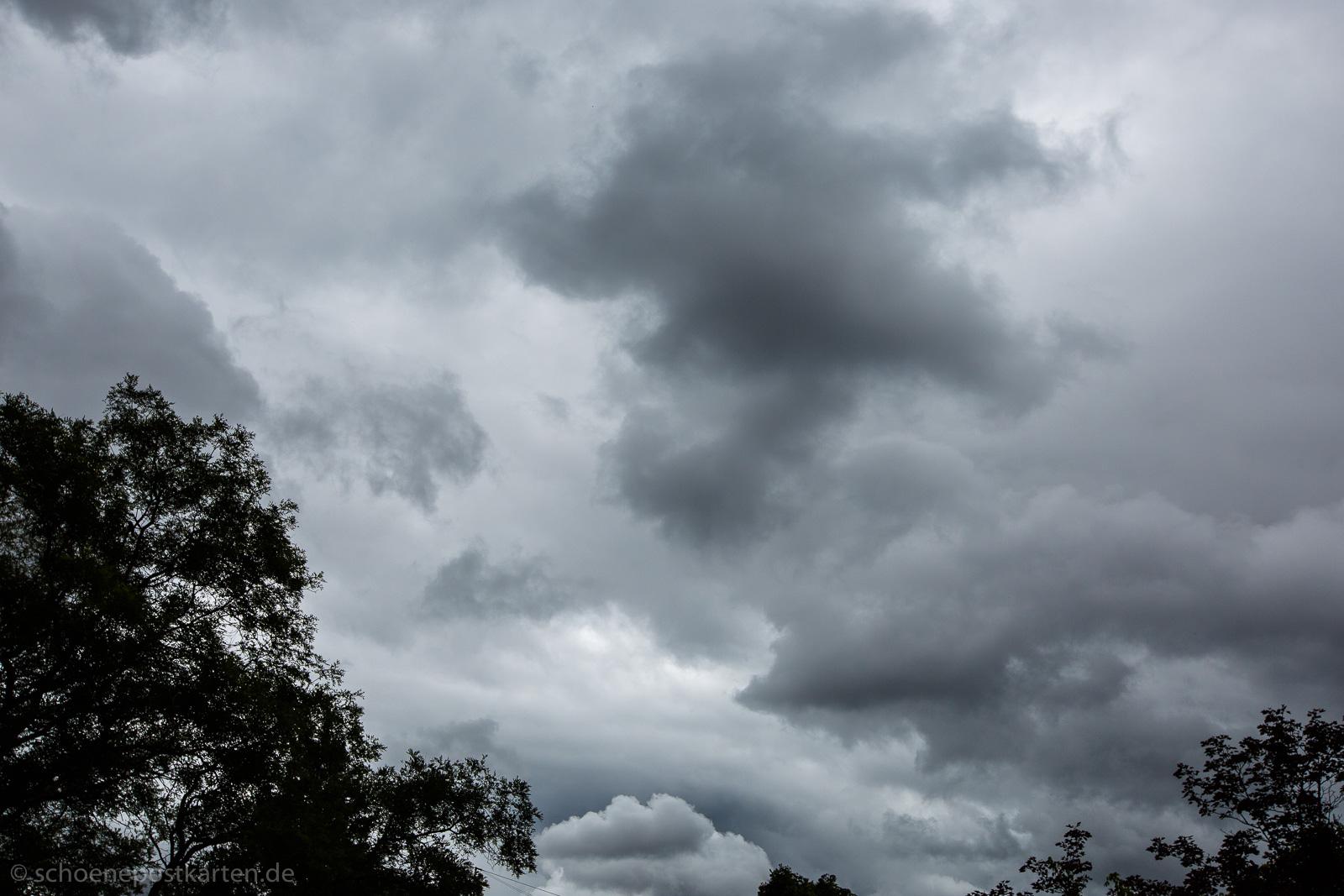 Sumpfwetterlage nennen es Meteorologen. Was würde Issa zu diesem Himmelgrau dichten?