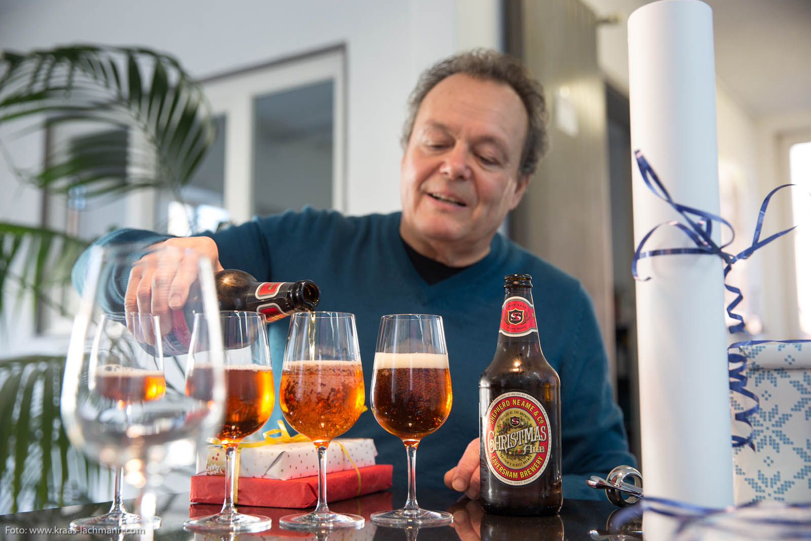 He is neither a shepherd nor from Faversham but he sure knows how to pour a Christmas ale.