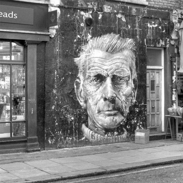 Beckett, auch als Graffiti beeindruckend. via Sinan Afşin Şenol.