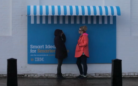 "IBM-Plakatserie von O&M France: ""Smart Ideas"". Screenshot: Kraas & Lachmann."