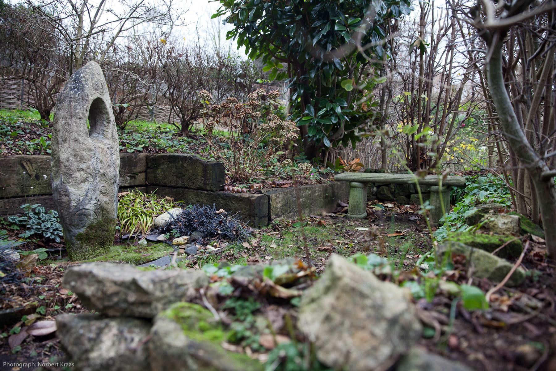 Zauberhaft auch im Winter: Englischer Garten in Aylesford, Kent.