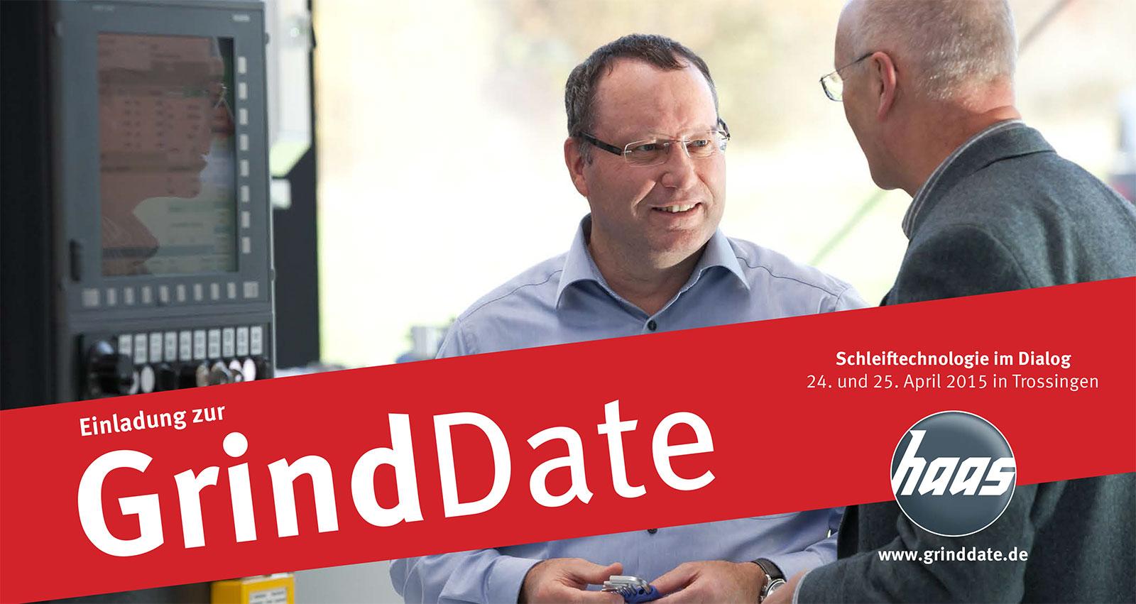 Einladung zur ersten GrindDate bei Haas.
