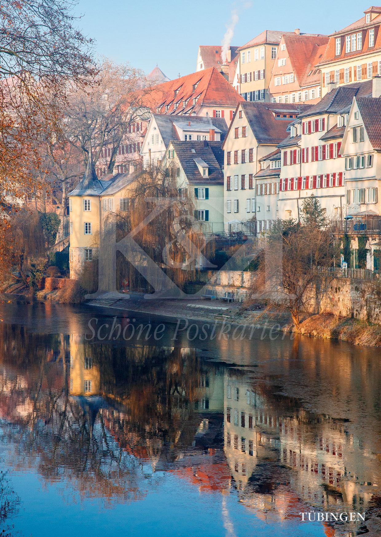 Schöne Postkarte Nr. 193 · So schön, werden wir ihn diesen Winter nicht sehen, den Hölderinturm am Neckar. © 2018