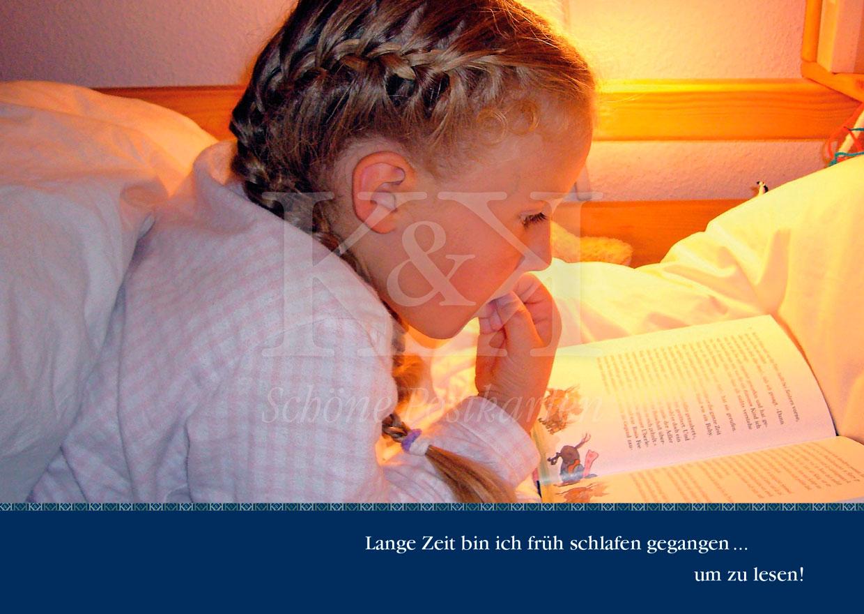 Lesen! Schöne Postkarte Nr. 45 · © www.schoenepostkarten.de · Tübingen