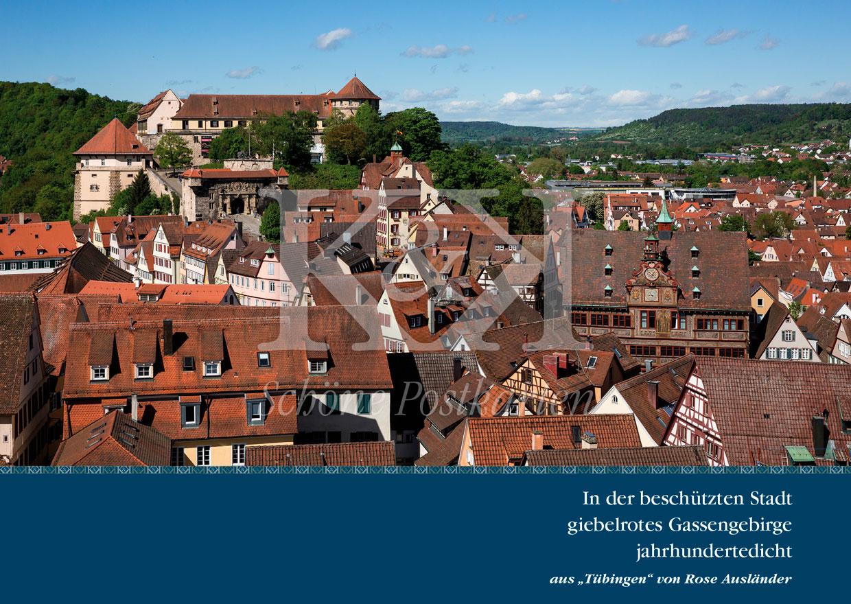 Schöne Postkarte Nr. 150 · Tübinger Gassengebirge. Rose Ausländer | www.schoenepostkarten.de