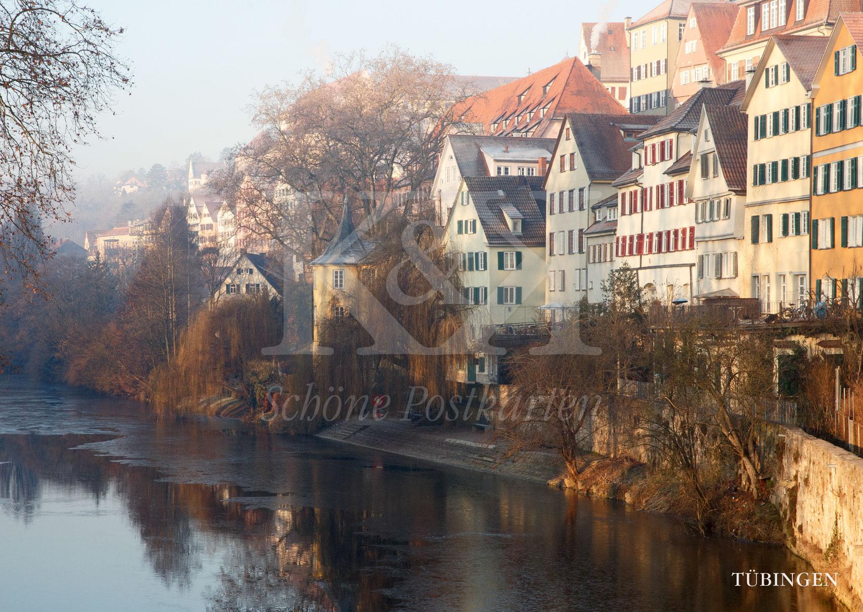 Hölderinturm mit Neckarfront in Tübingen | Schöne Postkarten Nr. 208