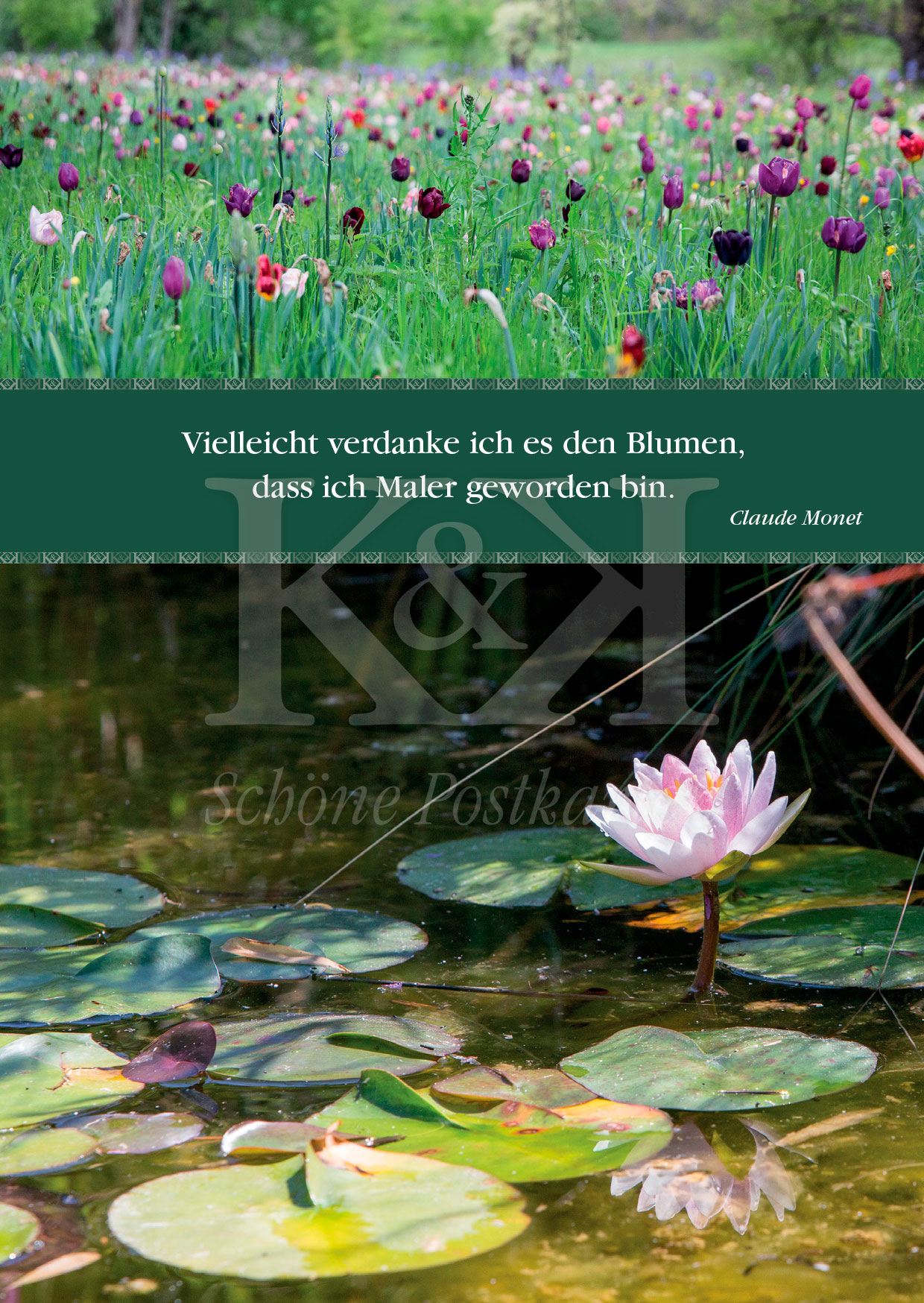 Schöne Postkarte Nr. 119 · Licht, Farben, Monet · © www.schoenepostkarten.de