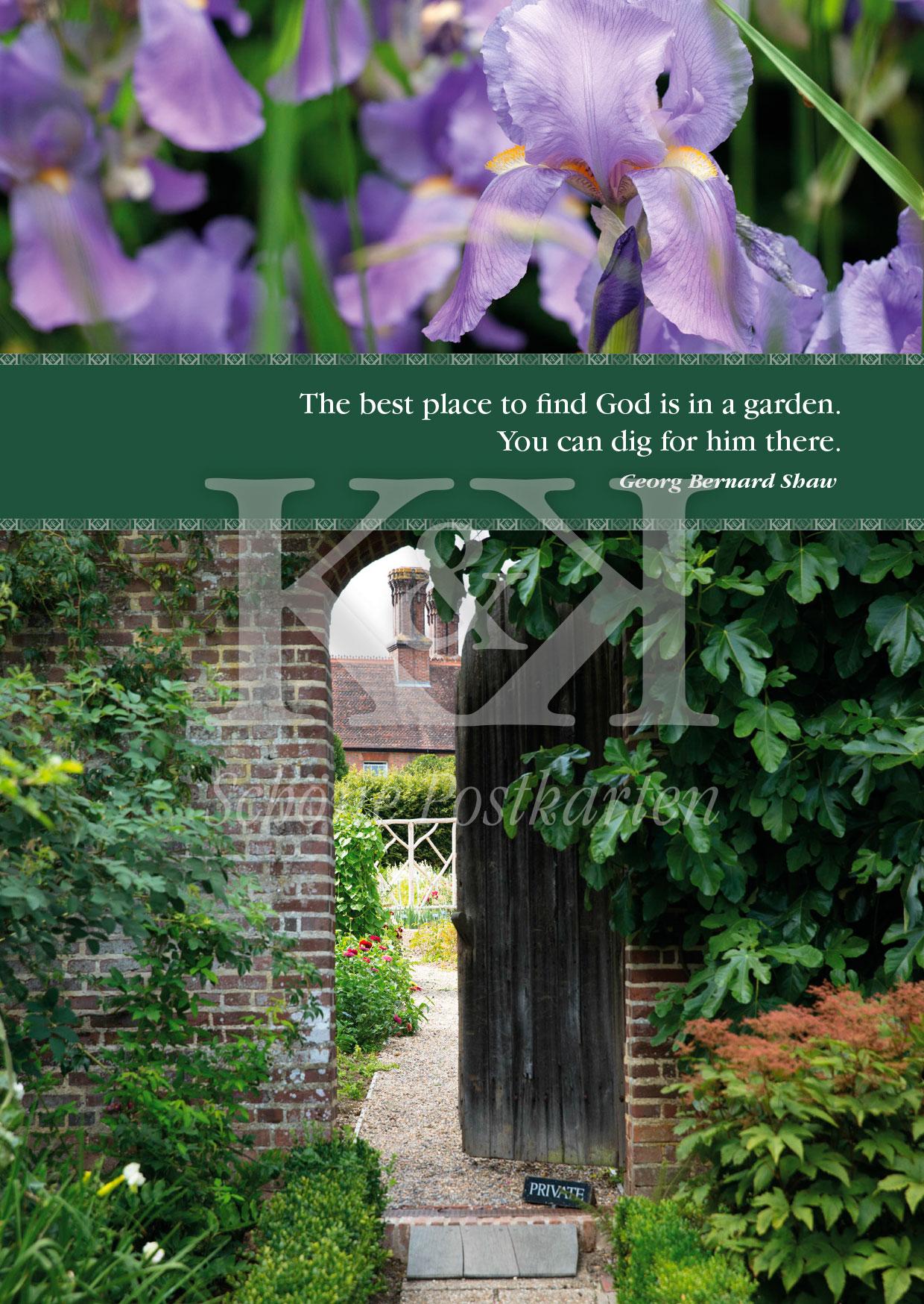 Schöne Postkarte Nr. 13 · Dig in the Garden, George Bernard Shaw · © 2018