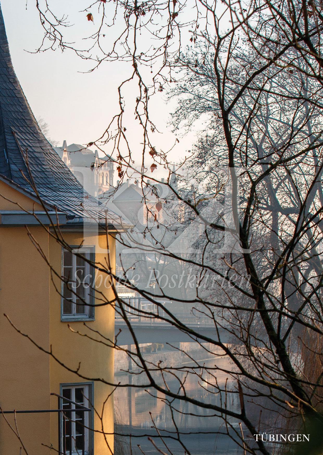 Tübingens Wahrzeichen an einem sonnigen Morgen
