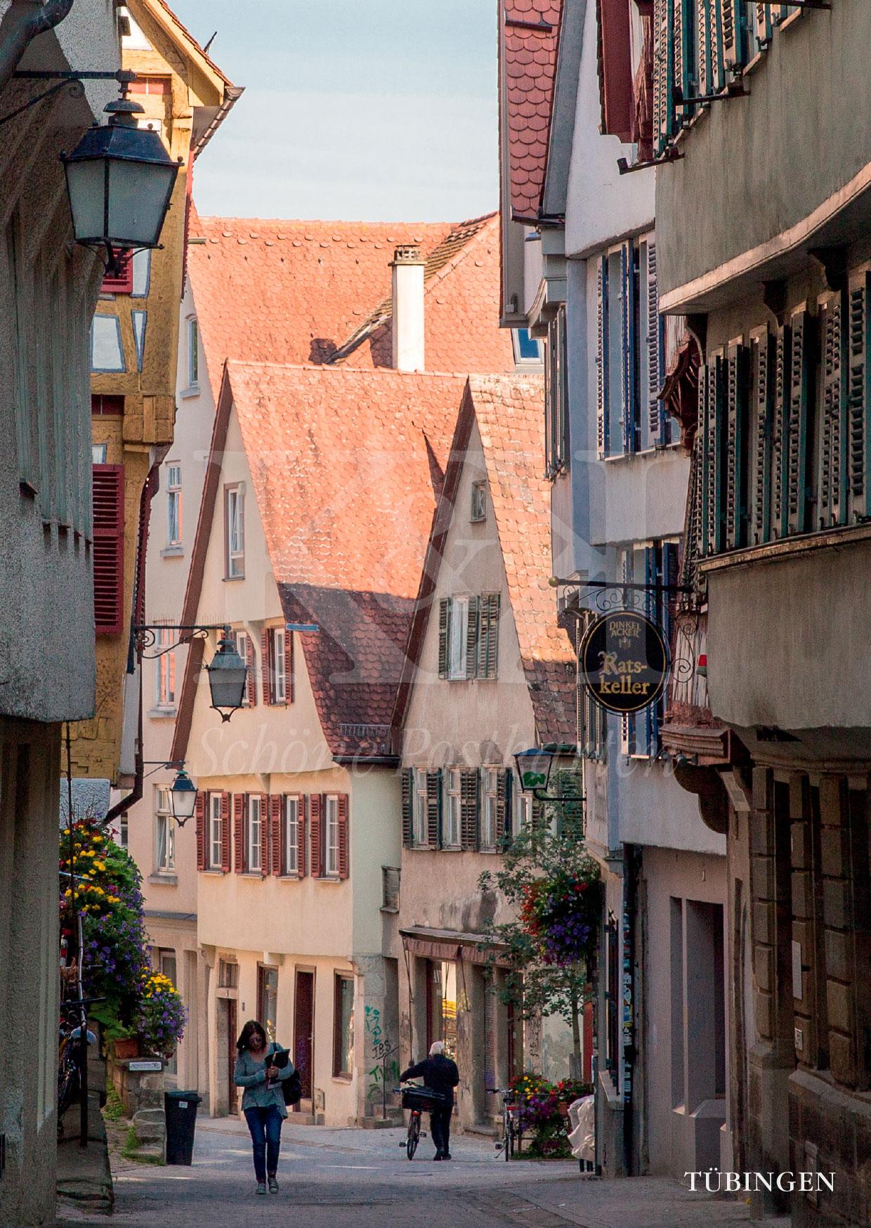 Schöne Postkarte Nr. 37 · Haaggasse in Tübingen · © www.schoenepostkarten.de