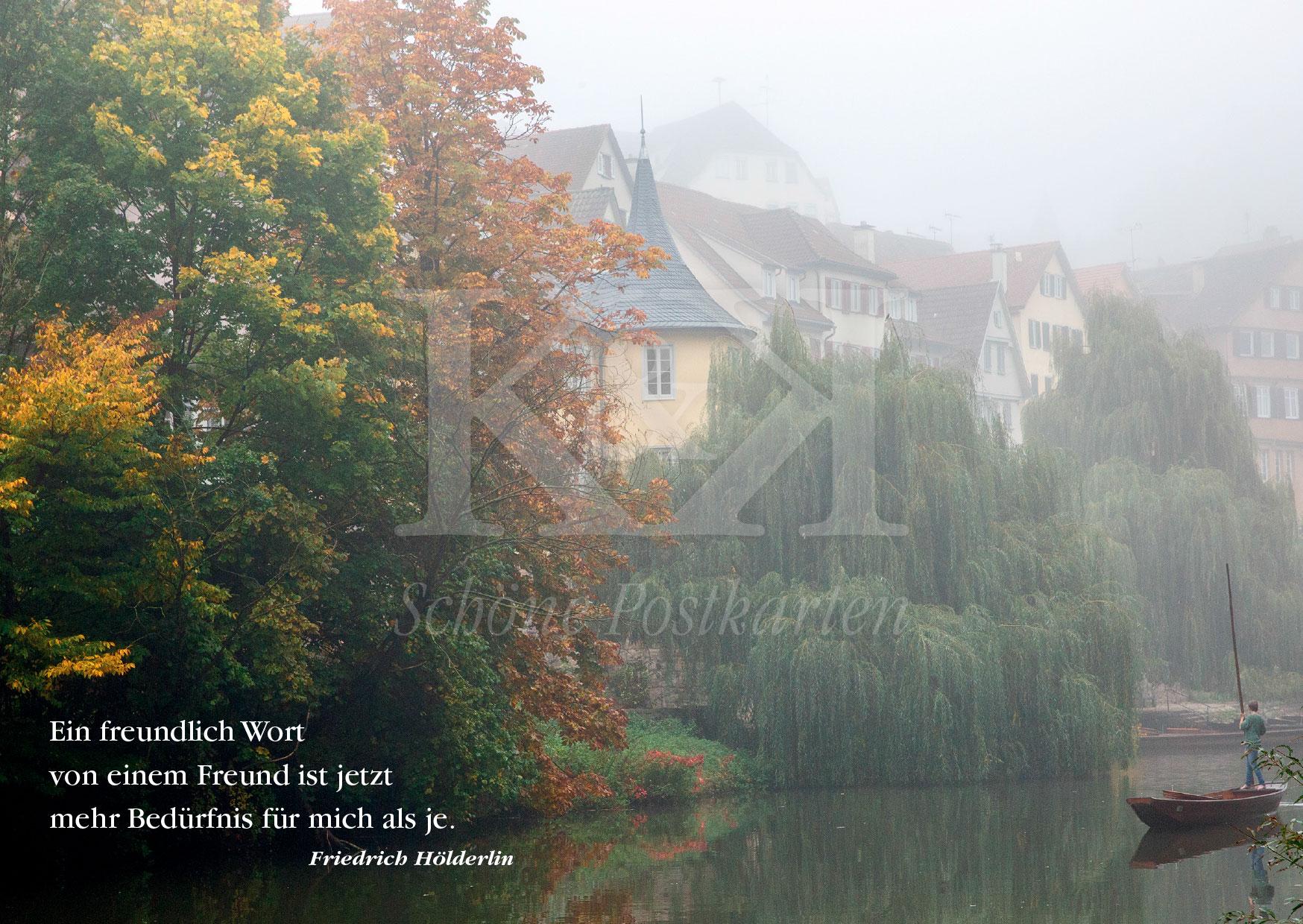 Schöne Postkarte Nr. 39 · Ein freundlich Wort in einer bleiernen Zeit ... © www.schoenepostkarten.de