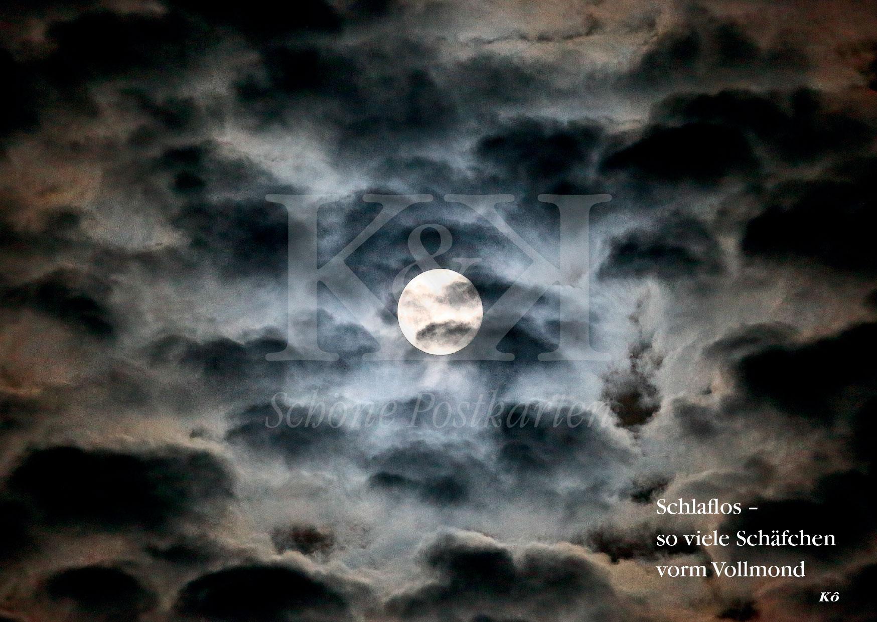 Schöne Postkarte Nr. 69 · Für Schlaflose und Mondsüchtige · © www.schoenepostkarten.de
