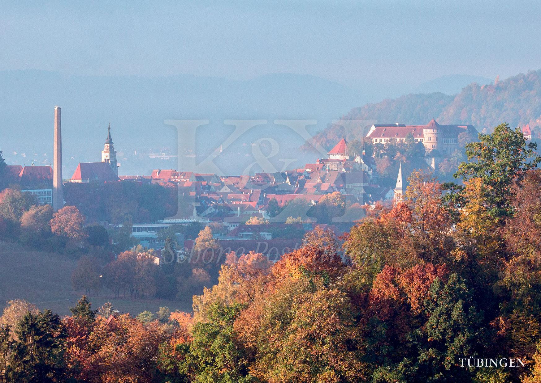 Schöne Postkarte Nr. 98 · Altstadt von Tübingen im Herbst · © www.schoenepostkarten.de