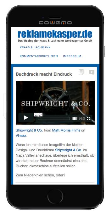Screenshot-Reklamekasper. © KRAAS & LACHMANN 2015