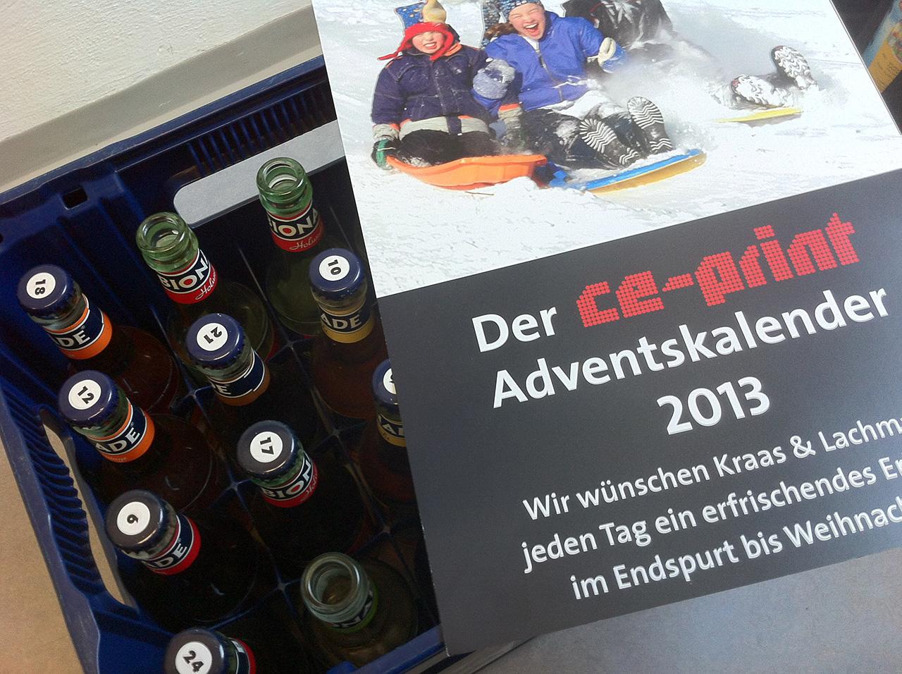 Ein Klassiker: Der ce-print Adventskalender.
